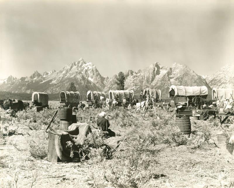 Pioneros americanos foto de archivo libre de regalías