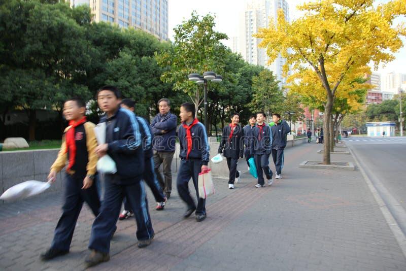 Pioneros jovenes en Shangai imagen de archivo libre de regalías