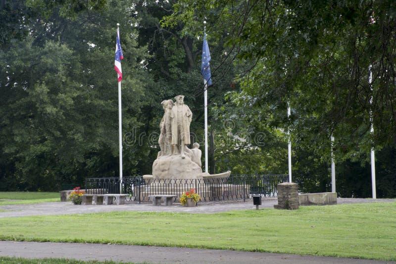 Pionier und Siedler Monument, Marietta Ohio lizenzfreies stockbild