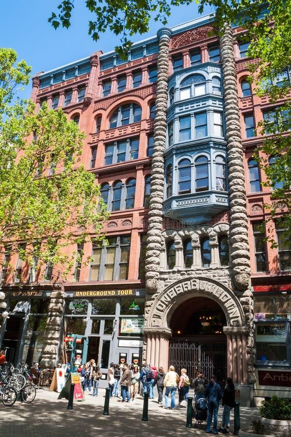 Pioniergebäude in Seattle, WA stockfotografie