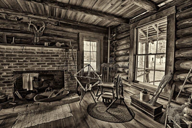 Pioniershuis in het Pinellas-de Erfenisdorp van de Provincie, Florida stock foto