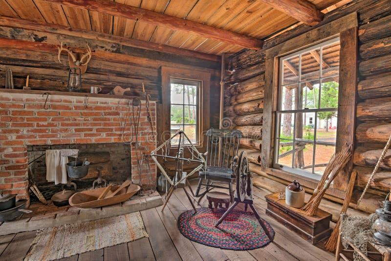Pionierski dom w Pinellas okręgu administracyjnego dziedzictwa wiosce, Floryda zdjęcia stock