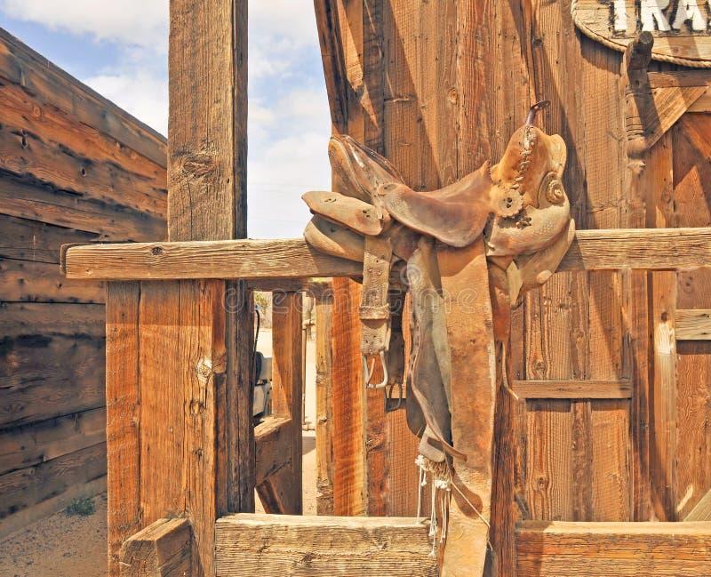 Pionierski miasteczko: Lold Fasonował skóra comber zdjęcia stock