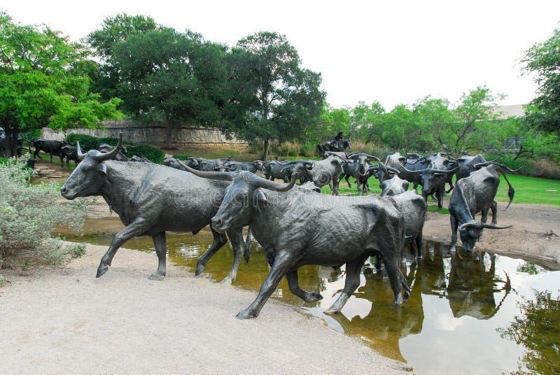 Pioniersplein - Dallas, Texas stock afbeelding