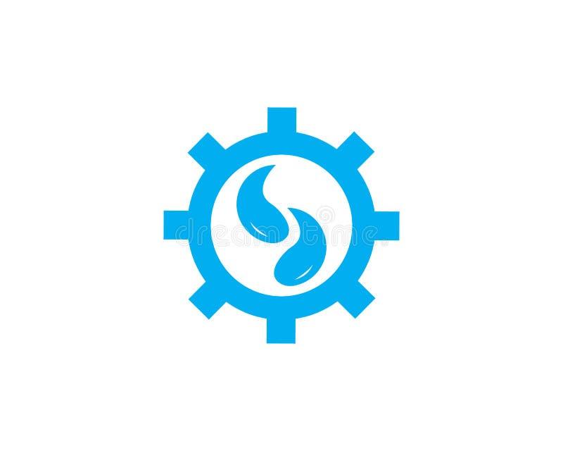 Pionować usługowego loga projekta pojęcie ilustracja wektor