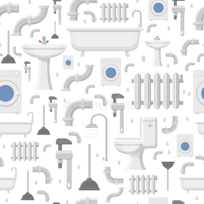 Pionować usługowego mieszkania ikon bezszwowego wzór royalty ilustracja