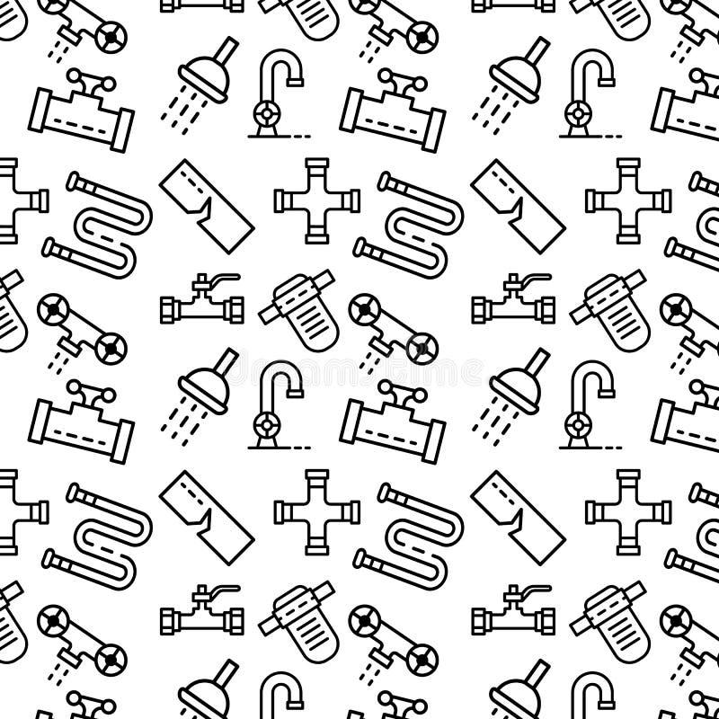 Pionować wzór, konturu styl ilustracji