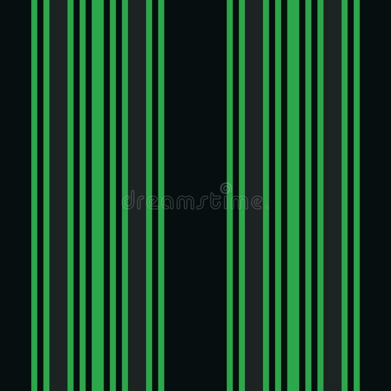 Pionowo czarny i zielony lampasa druku wektor ilustracja wektor