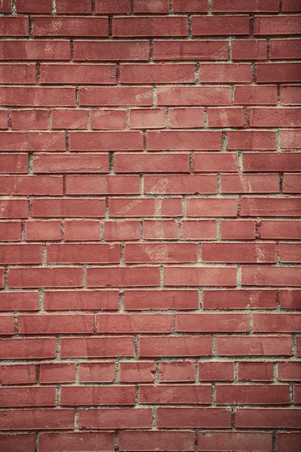 Pionowo czerwoni ścian z cegieł tła obrazy royalty free