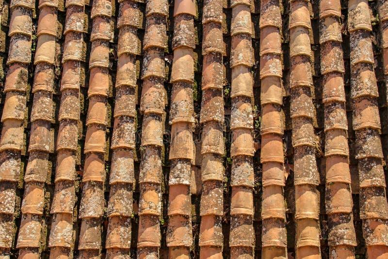 Pionowo dachówkowy dach w Granada zdjęcia stock