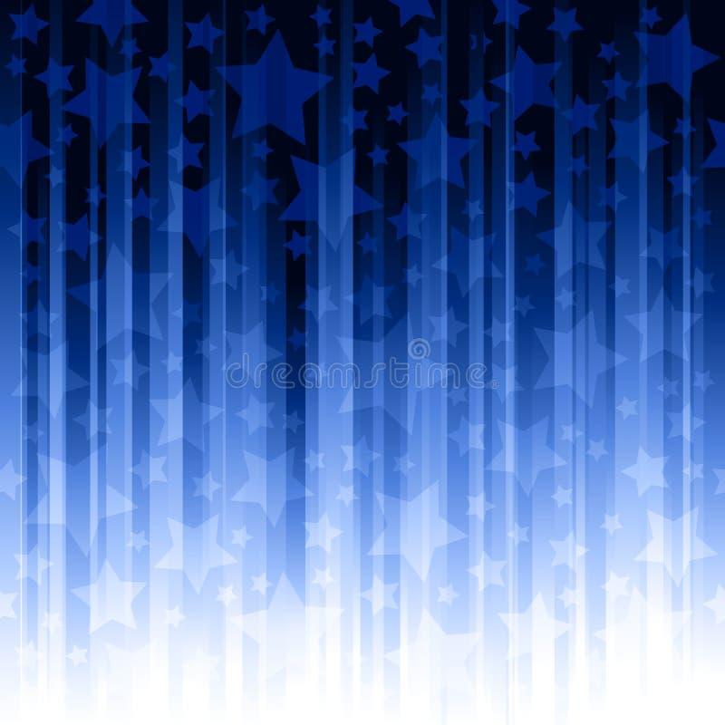 pionowo gwiazda błękitny lampasy ilustracja wektor