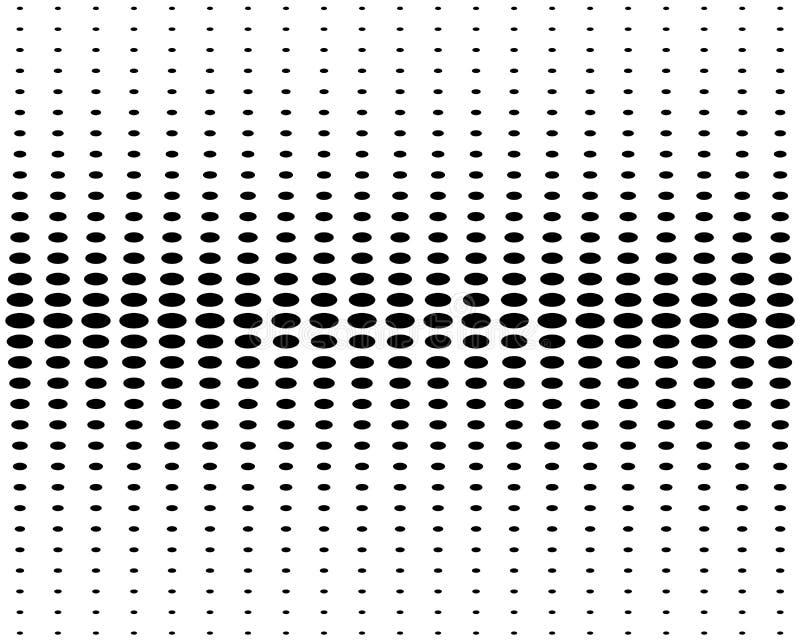 Pionowo halftone okręgi na białym tle, układu szablon, sztandar dla sprzedaży również zwrócić corel ilustracji wektora ilustracji