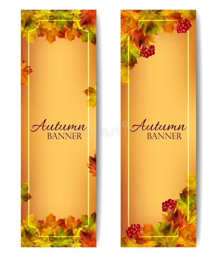 pionowo jesień sztandary wektor ilustracja wektor