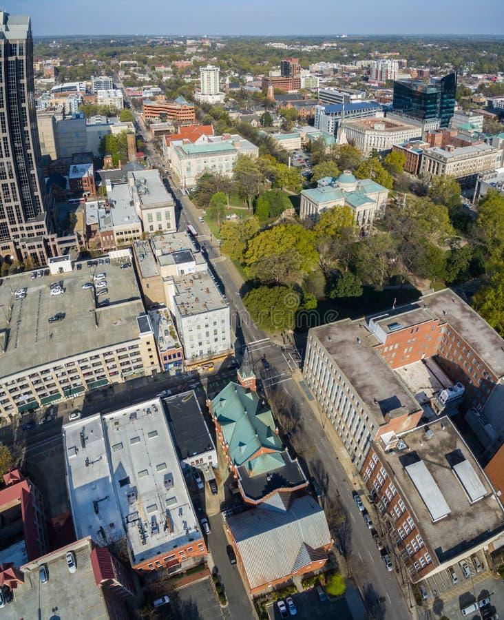 Pionowo panoramy Raleigh śródmieście 3/2016 obrazy royalty free
