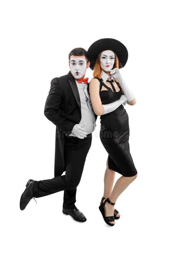 Pionowo portret dwa mima zdjęcie royalty free