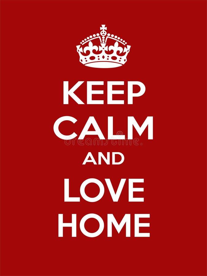 Pionowo prostokątna biała motywacja miłość domu plakat ilustracji