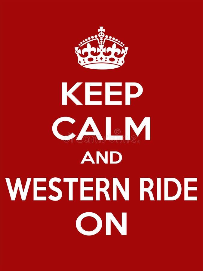 Pionowo prostokątnego białego motywacja sporta przejażdżki zachodni plakat opierający się w rocznika utrzymania retro stylowym mi ilustracja wektor