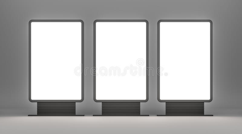 Pionowo pusty plenerowy Lightboxes ilustracja wektor