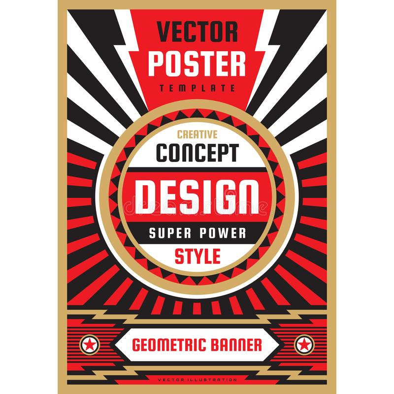 Pionowo sztuki plakatowy szablon w ciężkim władza stylu Krajowej patriotyzm wolności pionowo sztandar Graficznego projekta układ  royalty ilustracja