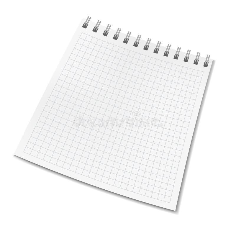 Pionowo wektorowy realistyczny kwadrat rządził notatnika ilustracja wektor