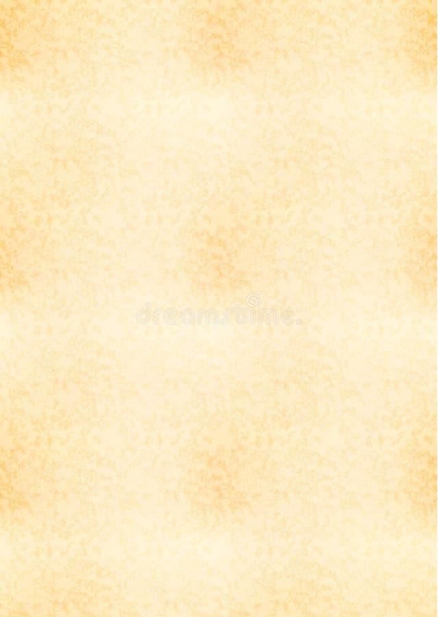 Pionowo a4 wielkościowy żółty prześcieradło stary papier ilustracja wektor