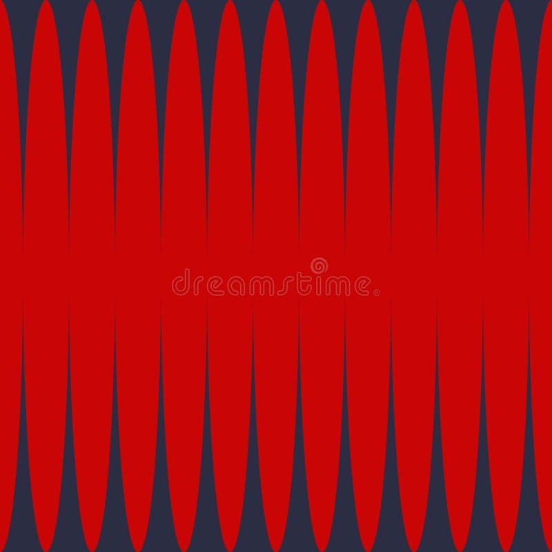 Pionowo zmrok - czerwony lampasa druku wektor ilustracja wektor