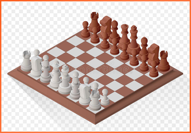 Pions isométriques de pièce d'échecs illustration stock