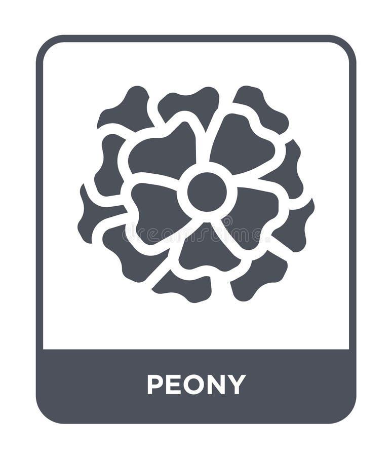 pionsymbol i moderiktig designstil pionsymbol som isoleras på vit bakgrund enkelt och modernt plant symbol för pionvektorsymbol f stock illustrationer