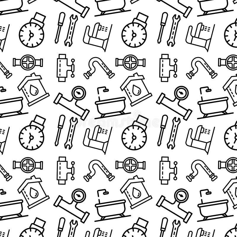 Pionujący narzędzie deseniuje, zarysowywa, styl ilustracja wektor