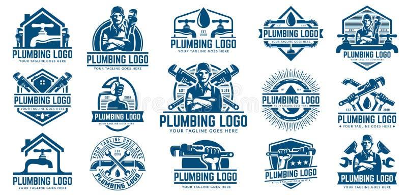 15 Pionuje logo szablonu paczek z retro lub rocznika stylem, ilustracja wektor