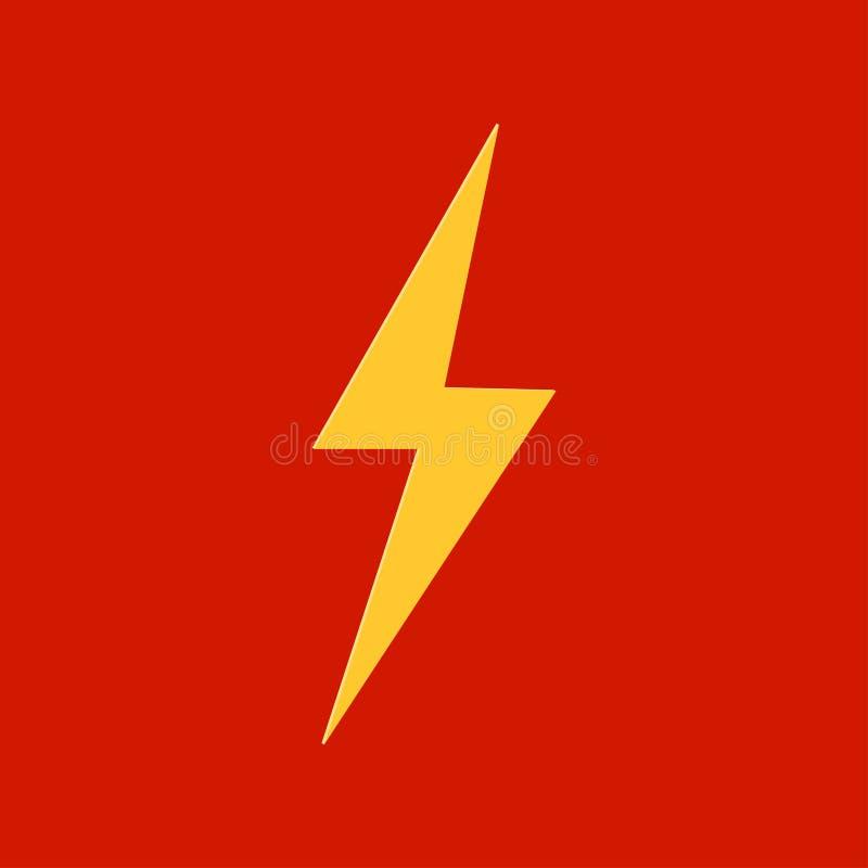 Piorunu logo ikony energii żółty błyskawicowy pojęcie ilustracji