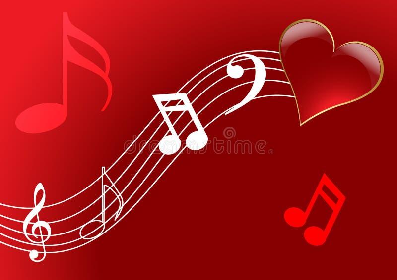 piosenka miłosna royalty ilustracja