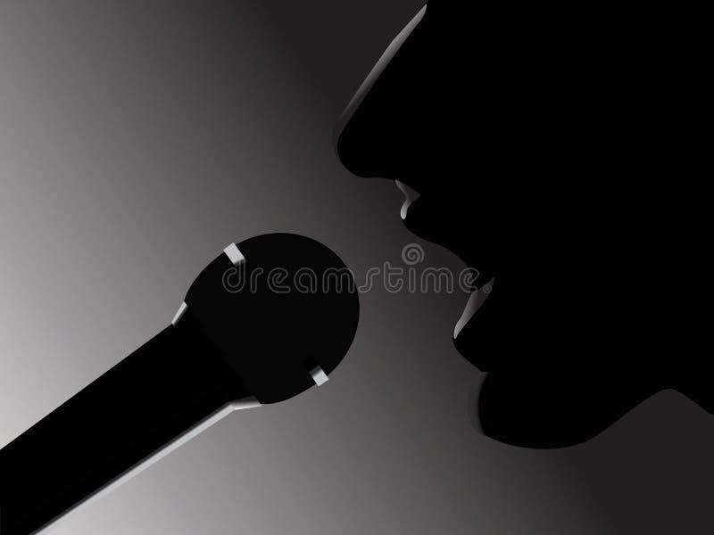 piosenkarz royalty ilustracja