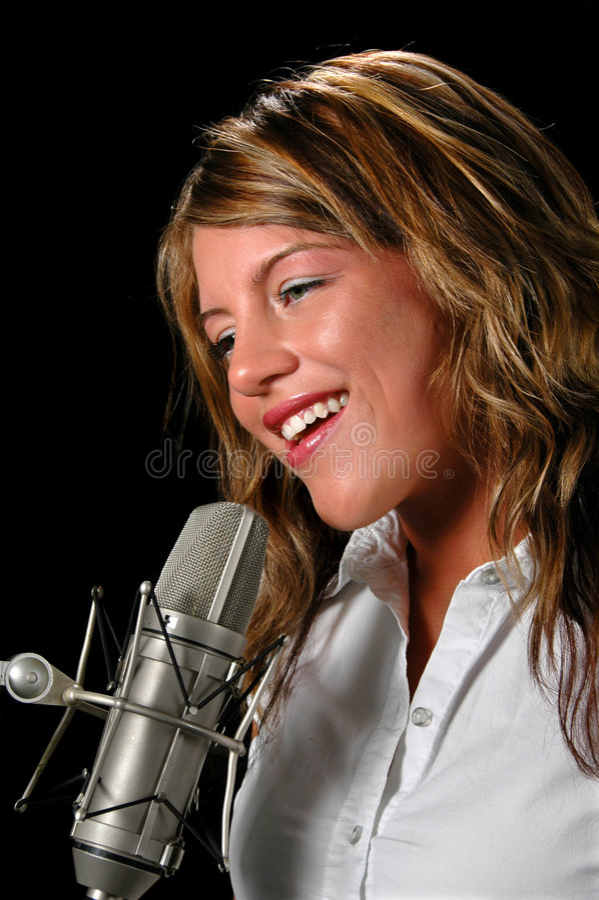 piosenkarz obraz royalty free