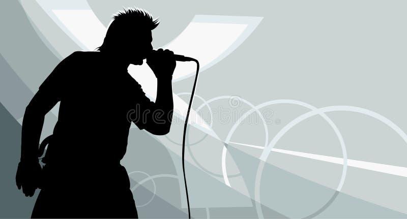 piosenkarz ilustracji