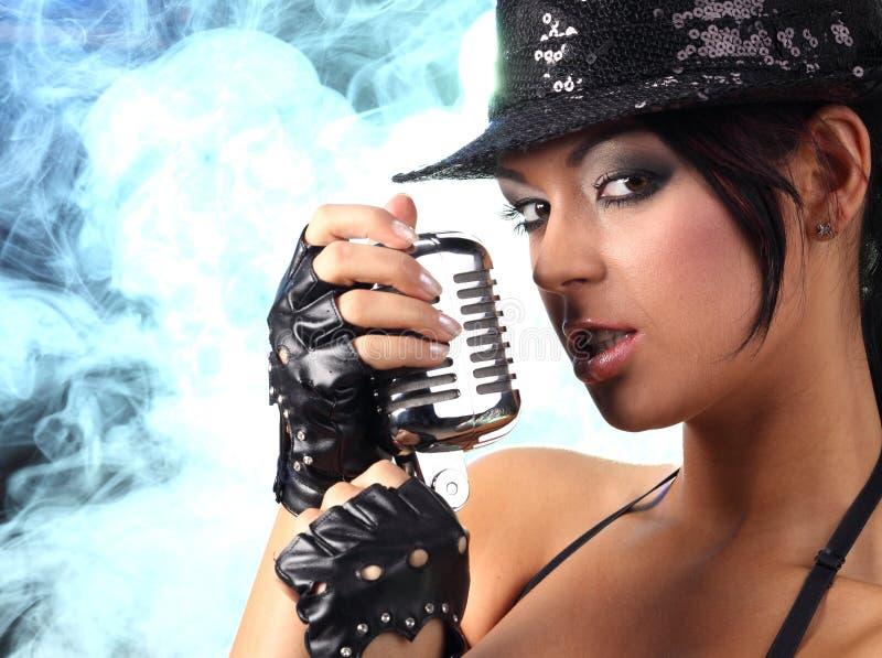 piosenkarz kobieta zdjęcia stock