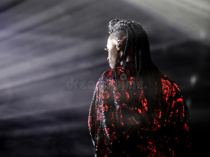 Piosenkarz Skye Edwards podczas przedstawienia w Zurich zdjęcia royalty free