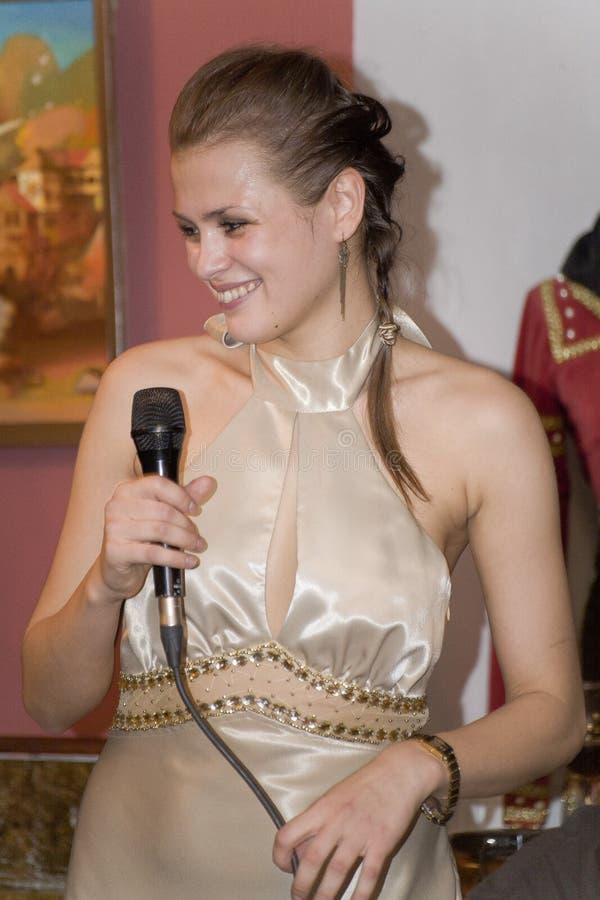 Piosenkarz, wokalista wystrzał grupa koktajl, Catherine Symagina fotografia royalty free