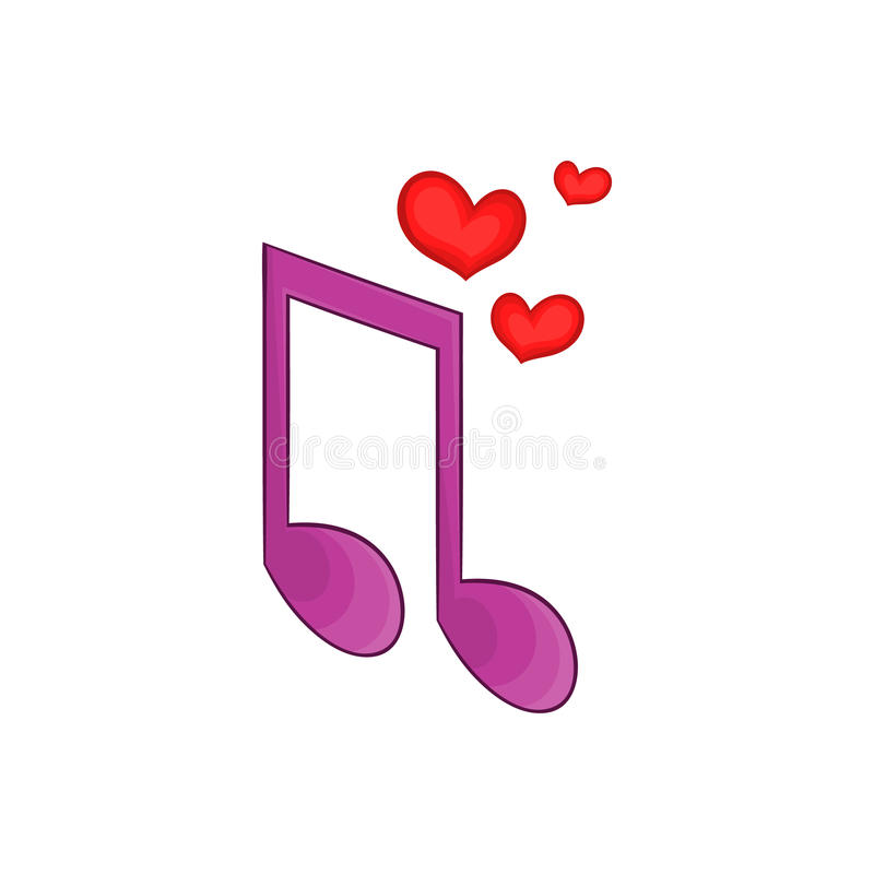 Piosenki miłosnej ikona, kreskówka styl ilustracji