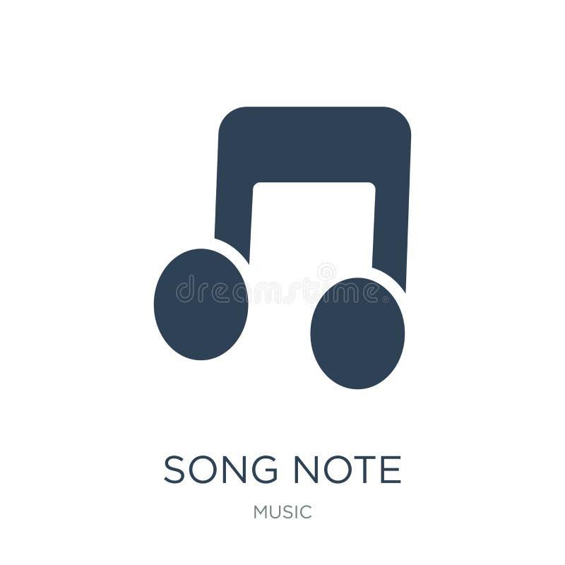 piosenki nutowa ikona w modnym projekta stylu piosenki nutowa ikona odizolowywająca na białym tle piosenki nutowej wektorowej iko royalty ilustracja