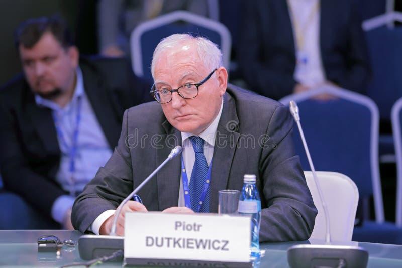 Piotr Dutkiewicz. SAINT-PETERSBURG, RUSSIA - JUN 16, 2016: St. Petersburg International Economic Forum SPIEF-2016. Piotr Dutkiewicz, Professor of political royalty free stock photos
