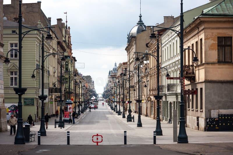 Piotrkowska, Lodz lizenzfreie stockfotografie