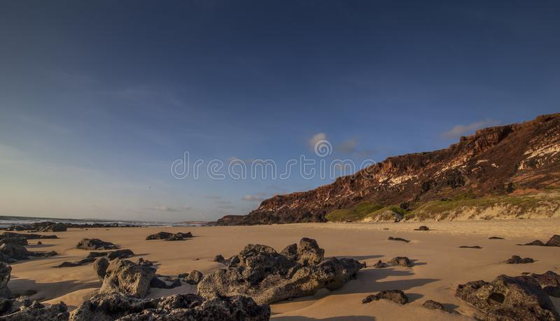 Pipa Beach Tibau do Sul - Rio Grande doet Norte stock afbeeldingen