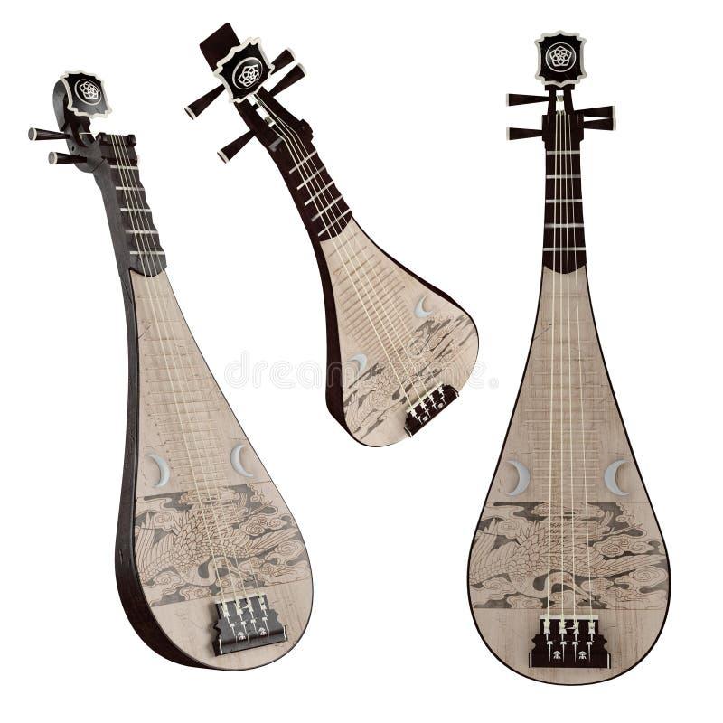 Pipa. Musikinstrument för traditionell kines. arkivfoto