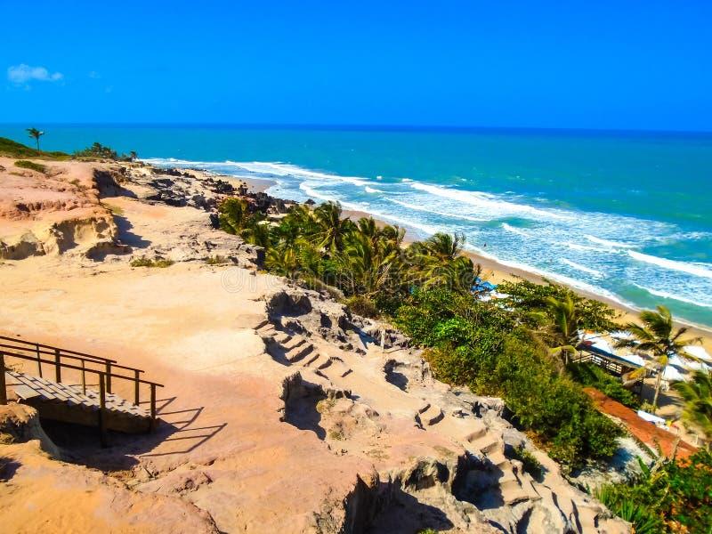 Pipa-Strand in Brasilien lizenzfreies stockbild