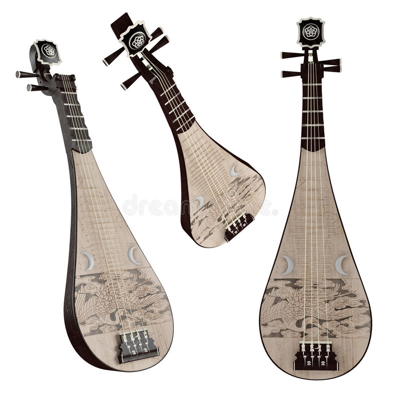 Pipa. Traditional Chinese musical instrument. stock photo