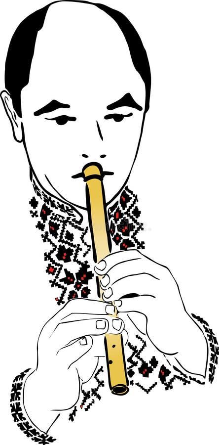 pipblåsare royaltyfri illustrationer