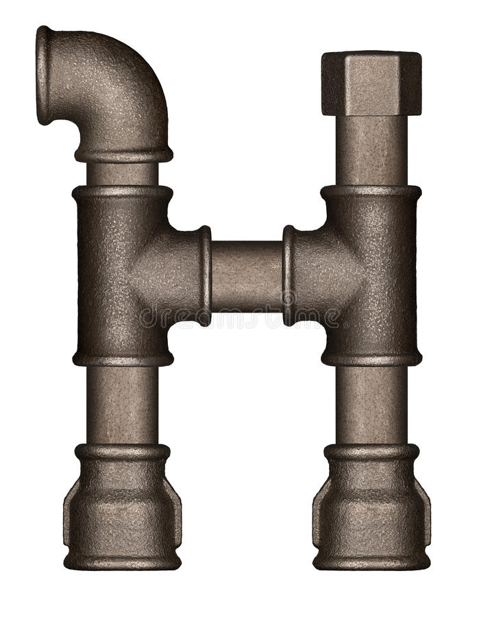 Pipe alphabet letter royalty free stock photos