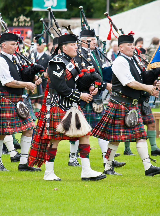Pipe Band stock image