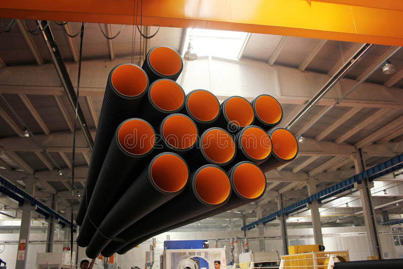 Pipe en plastique image stock